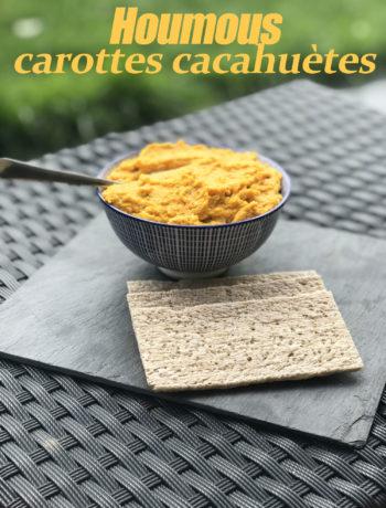 Houmous carottes cacahuètes