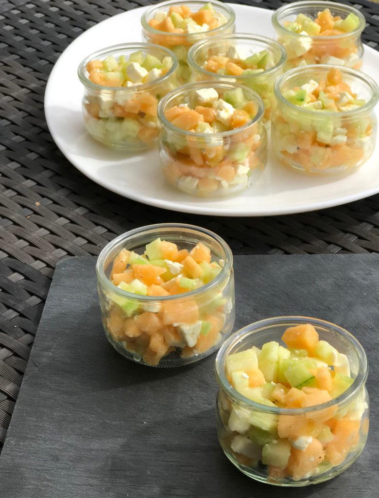 Salade de concombre melon et feta